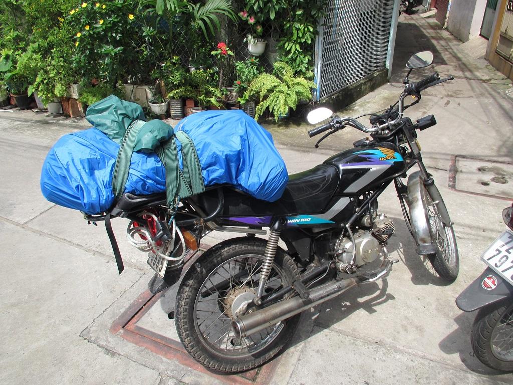Fertig gepackt und bereit für die Abfahrt von Saigon