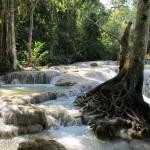 Ein hübscher Wasserfall in der Nähe von Luang Prabang
