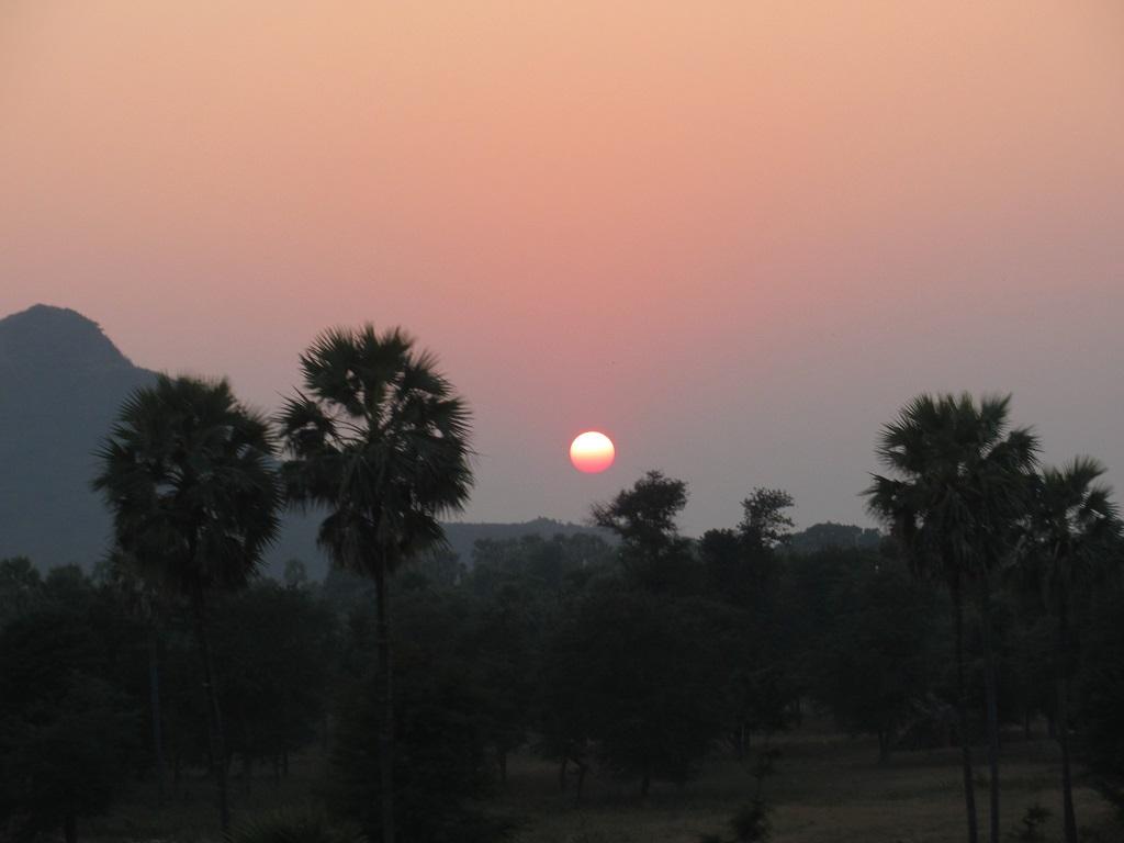 Sonnenuntergang vom Zug